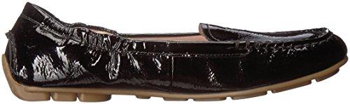 Kristine Rose Taryn Patent Style Driving Loafer Women's Crinkled Black wUqqO4p