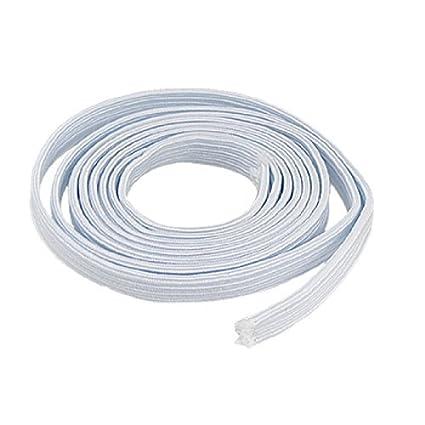 eDealMax Reemplazo 1,58 M Longitud elástico Blanco de la Banda Para Los Pantalones