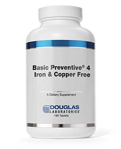 - Douglas Laboratories - Basic Preventive 4 (Iron & Copper Free) - Highly Concentrated Vitamin/Mineral/Trace Element Supplement - 180 Tablets