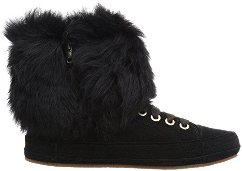 UGG Frauen Antoine Fur Fashion Sneaker Schwarz