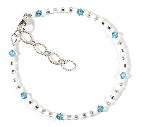 Style-ARThouse ''Take Me To the Caribbean'' Bracelet with Aqua Blue Swarovski Crystals, 7.5 Inches by Style-ARThouse (Image #3)
