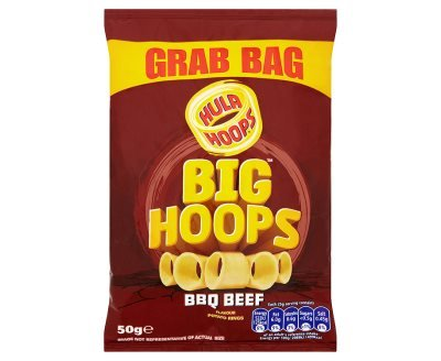 Hula Hoops Big Hoops BBQ Beef Flavour Potato Rings (50g x 36) by Hula Hoops (Image #1)