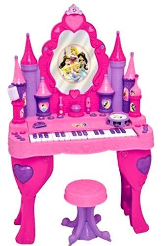 (Disney Princess Enchanted Musical Piano Keyboard Magical Interactive Vanity Salon Girl Toy )