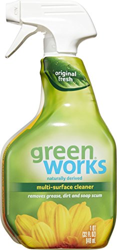 Green Works Multi-Surface Cleaner, Spray Bottle, Original Fresh, 32 Ounces (Pack of 3)