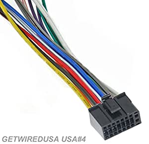 amazon.com: getwiredusa. dual car audio 16-pin stereo wire ... stereo wire harness color code dual model xdvd700 stereo wire harness