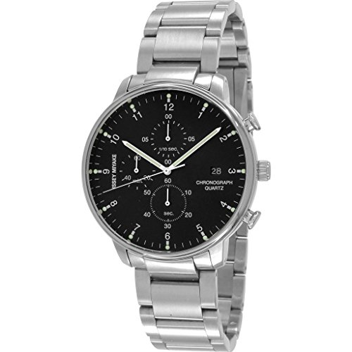 ISSEY MIYAKE Men's 'C' Quartz Stainless Steel Casual Watch, Color:Silver-Toned (Model: NYAD001Y)