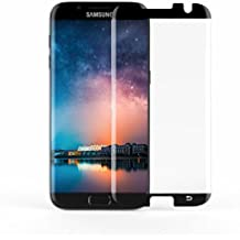 [Case Friendly] S7 Edge Screen Protector,JR-Glass Curved Tempered Glass Screen Protector (95% Coverage) for Samsung Galaxy S7 Edge(Bubble Free Installation),Black Frame