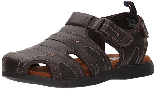 Nunn Bush Men's Rio Grande Closed Toe Fisherman Sandal, Brown, 9 W US