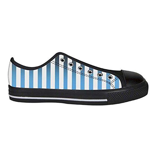 Dalliy Farbstreifen Mens Canvas shoes Schuhe Lace-up High-top Sneakers Segeltuchschuhe Leinwand-Schuh-Turnschuhe A