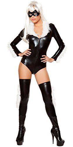Girl's Felicia Hardy Black Cat Halloween Costume - Black/White - Small for $<!--$41.99-->