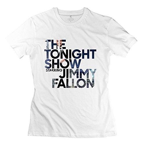 Jiaso Women's The Tonight Show Starring Jimmy Fallon T Shirt X-Large (Late Night With Jimmy Fallon T Shirt)