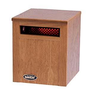 The Original SUNHEAT Electronic Infrared Room Heater, Golden Oak