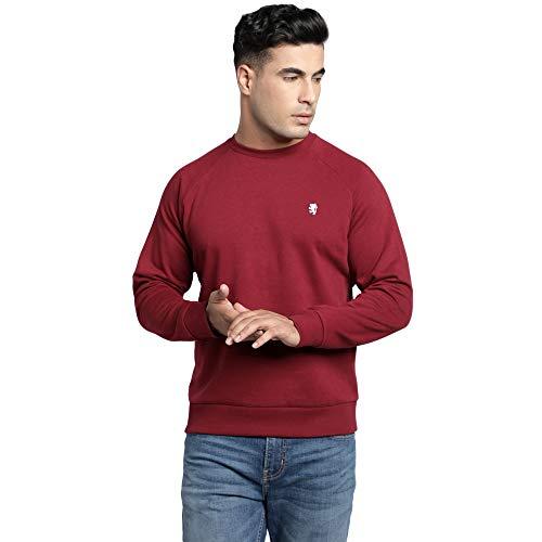 Red Tape Men Full Sleeve Maroon Sweatshirt