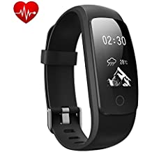 TINGAU Smart Bracelet, Fitness Activity Tracker Waterproof OLED Screen Bluetooth Pedometer Smartwatch Wireless Wristband with Weather Forecast / 14 Training Modes for Android and iOS Smart Phones