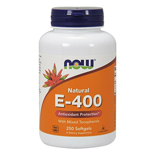 NOW  E-400 Vitamin E-400 IU MT Softgels with Mixed Tocopherols, 250 Softgels - 400 Iu Water