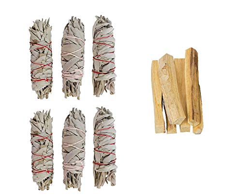 Clarity & Muse Sage Smudge Stick Kit - White Sage, Palo Santo Sticks - House Blessing Kit Refill Pack