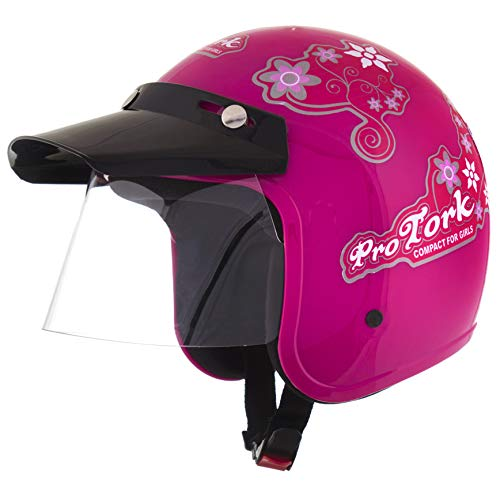 Pro Tork Capacete Liberty Compact For Girls 58 Rosa