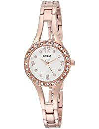 GUESS Women's Quartz Stainless Steel Casual Watch, Color:Rose Gold-Toned (Model: U1034L4)