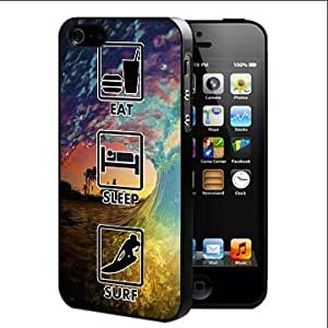 Eat Sleep Surf Tie-Dye Sun Set Wave Hard Snap On cell Phone Case Cover (iPhone 5 5s)