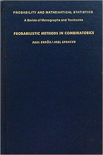 Probabilistic methods in combinatorics paul erdos joel spencer probabilistic methods in combinatorics paul erdos joel spencer 9780122409608 amazon books fandeluxe Choice Image