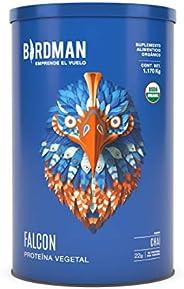 Falcon Protein Birdman, Proteína Vegetal (Vegana) en polvo Certificada Organica 1.170kg 2.58lb
