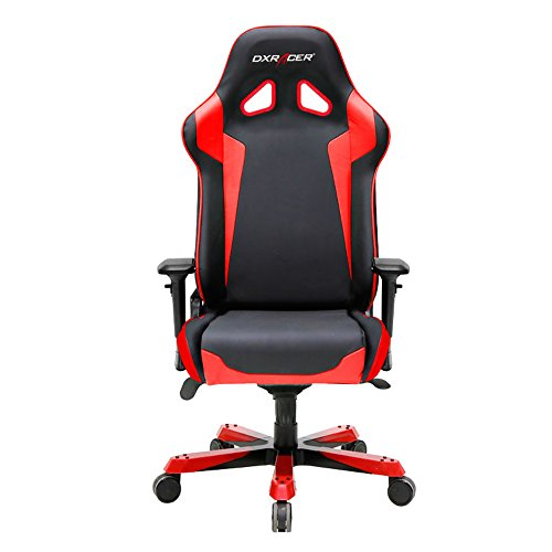 DXRacer Sentinel Series Big and Tall Chair DOH/SJ00/NR Racing Bucket Seat Office Chair Gaming Chair Ergonomic Computer Chair eSports Desk Chair Executive Chair Furniture With Pillows (Black/Red)