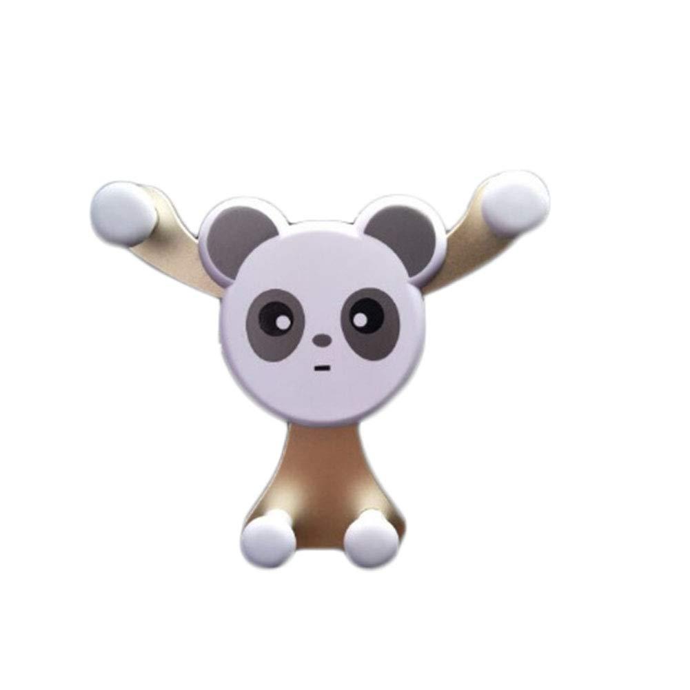 LAMEIDA Support T/él/éphone Voiture Ventilation pour 4-6 Pouces Smartphone Panda Conception Compatible avec iPhone X 8 7 6 6 Plus Samsung S6 S7 S8 Huawei