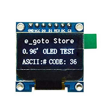 "Blue 0.96/"" I2C SPI Serial 128X64 OLED LCD Display SSD1306 for Arduino 51 STM32"