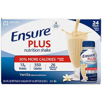 Ensure Plus Vanilla Shake, 24 pk./8 fl. oz. x2 AS by American Standart