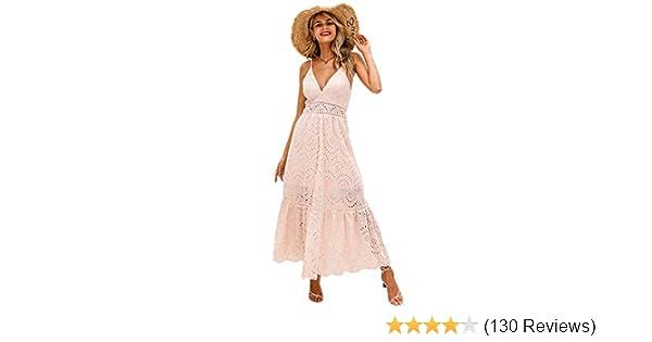 e83691bf814 BerryGo Women's Embroidery Pearl Button Down Dress V Neck Spaghetti Strap  Maxi Dress