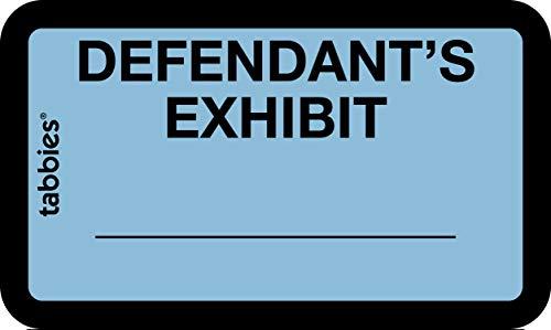 Tabbies Legal Exhibit Labels Label: 1-5/8