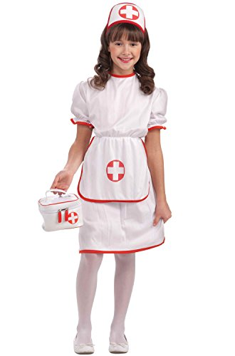 Forum Novelties Classic White Nurse Costume, Child Large