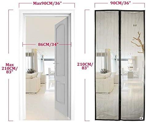 Puerta de mosquitera magnética, Anlising Cortina magnética para mosquitera de puerta de balcón Cortina de mosca de balcón magnética cortina magnética (210 x 90 cm, negro): Amazon.es: Bricolaje y herramientas