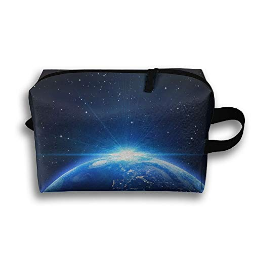 Storage Large Cosmetic Pouch Portable Makeup Home Space Novelty Earth Travel Bag qtxgwpp6An