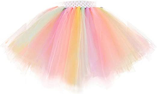 Amosfun Vestido de Princesa Tutu Falda de Tul Falda de Burbuja de ...