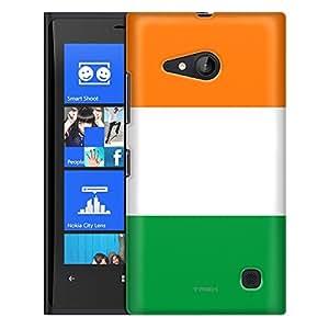 Nokia Lumia 730 Case, Slim Fit Snap On Cover by Trek Ireland Flag Case