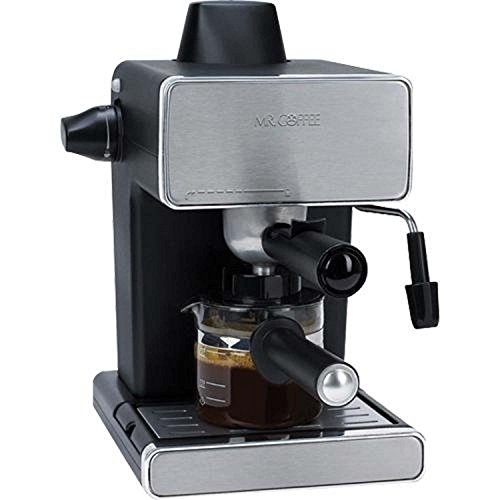 Mr. Coffee Steam Espresso Machine, Stainless Steel/Black (Certified Refurbished)