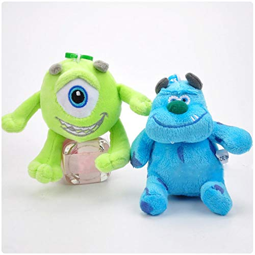 PAPIN Set 2 Mike Wazowski Sulley Plush Toys Keychain 3.75 inch Hot Toy Monster Plushes Monsters Inc Stuffed Doll Christmas Collectible Halloween Big Collectable Gift Collectibles Gifts for Kids Baby ()