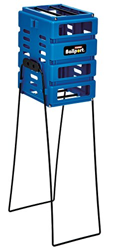 Tourna Blue Pete Sampras Mini Ballport, Holds 36 - Hopper Panel