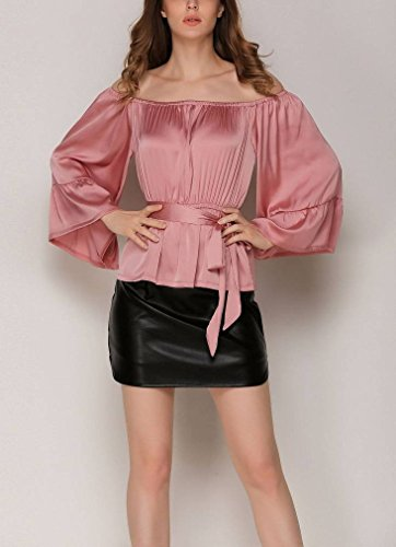 Noir Haute Taille Slim PU Femme Bigood Jupe en Courte Vogue Zipp xvfHaqp