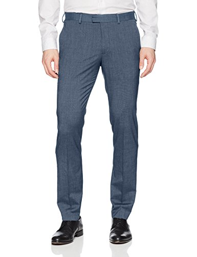 AXIST Men's Flat Front Very Slim Fit Nailshead Stretch Dress Pant