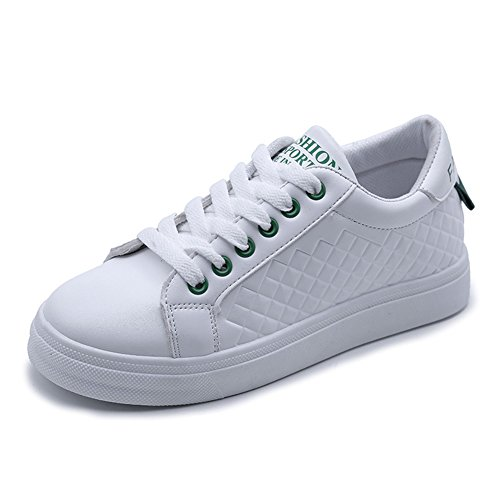 Cybling Women Sneakers Low-top Ronde Neus Sportschoenen Groen