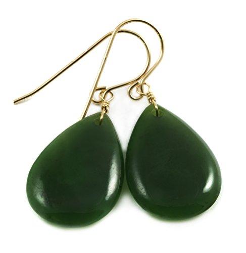 14k Gold Filled Nephrite Jade