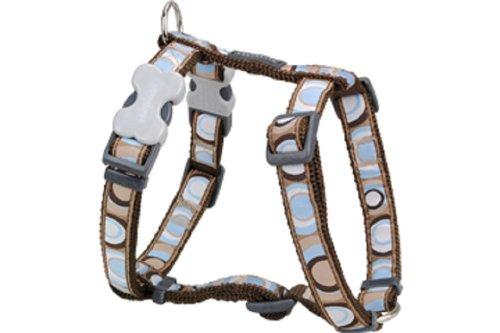 Red Dingo Designer Dog Harness, Medium, Circadelic Brown