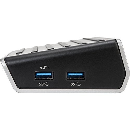 Targus Universal 4K Laptop Docking Station, Single 4K or Dual HD Video, with Charging Power, Audio, & 6 USB 3.0 Ports for PC, Mac, & Android(DOCK130USZ) by Targus (Image #3)