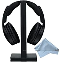 Sony MDRRF985RK Wireless RF Black Headphone & Polaroid Micro Fiber Cleaning Cloth With Storage Pouch