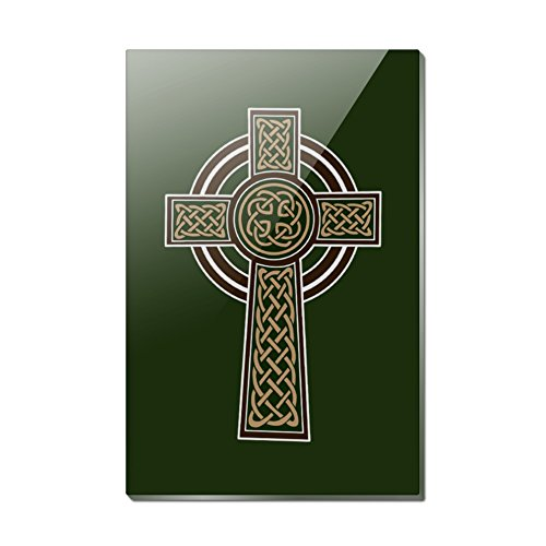 Celtic Christian Cross Irish Ireland Rectangle Acrylic Fridge Refrigerator Magnet ()