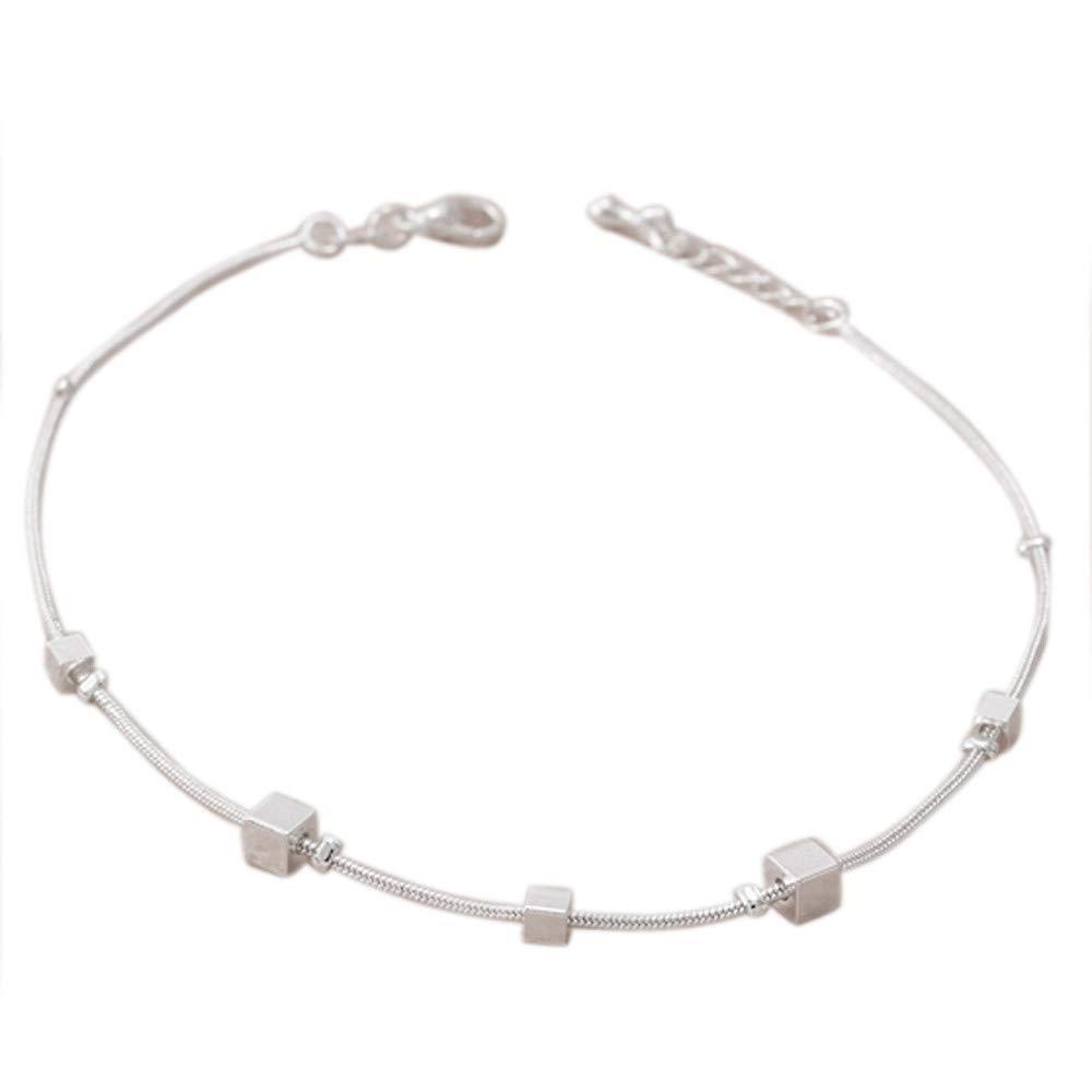 Baigoods Girl Love Fashion Simple Heart Ankle Bracelet Chain Beach Foot Sandal Jewelry (Silver C)
