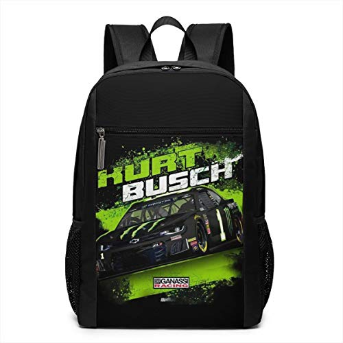 Kid's Kurt Busch Monster 2019 NASCAR Contender Driver Backpack Black