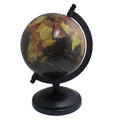 Antique Handmade 8' Inch Globe Iron Stand Globe Decorative Plastic Globe Word Map ()